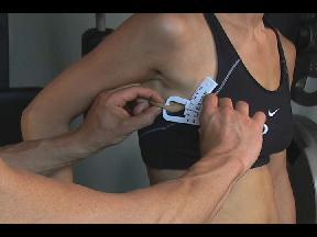 Female Body Fat Caliper Sites