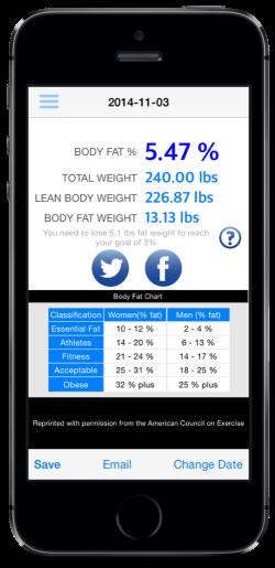 Body Tracker iOS App - A great mobile Body Tracker