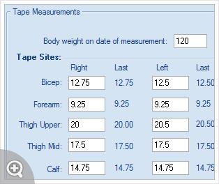 track body measurements